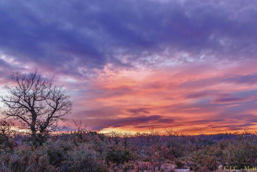 Colorida sortida del sol a Moià.