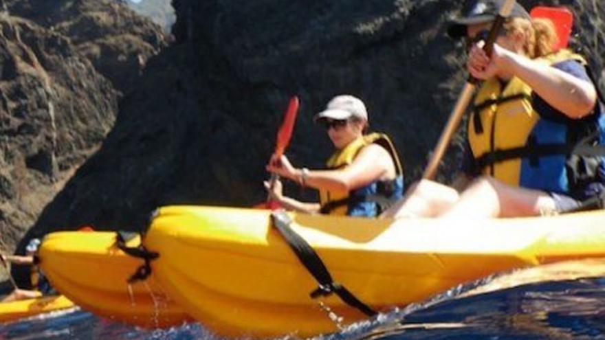 En kayak alrededor de Tenerife