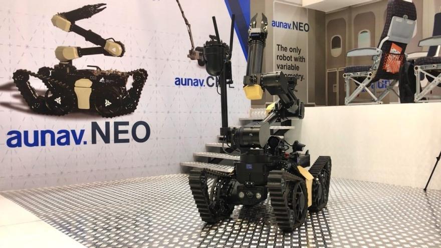 Binéfar fabrica el robot antiexplosivos más ágil del mundo