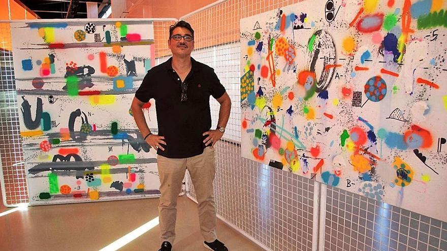 El pintor Eusebio López toma El Batel con sus horizontes y paisajes