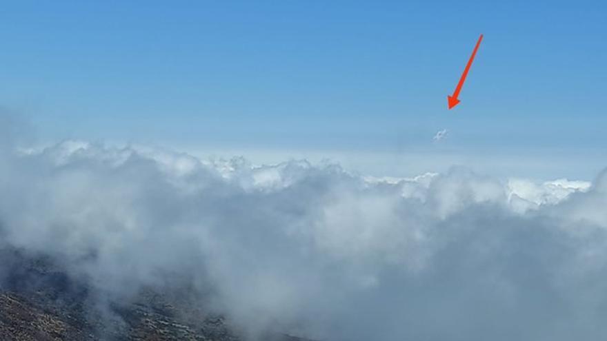 La erupción de La Palma, vista desde Tenerife