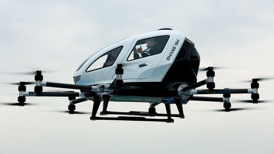 Los drones para pasajeros de eHang podrían llegar hasta Zaragoza.