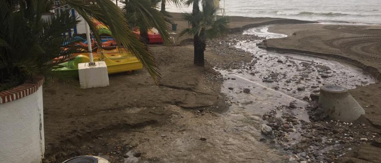 Granizo y lluvia en Marbella