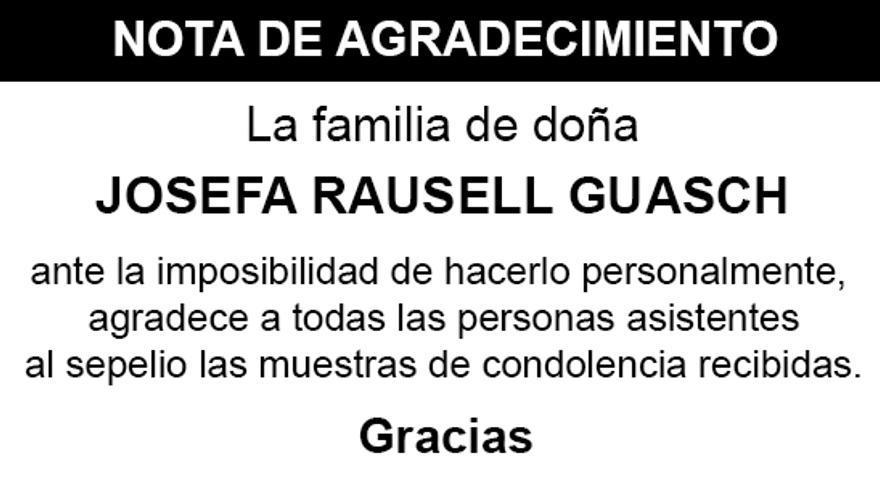 Nota Josefa Rausell Guasch