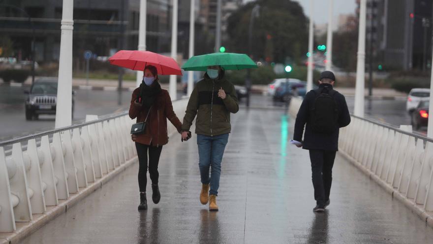 El tiempo en València: regresa el polvo en suspensión y las lluvias