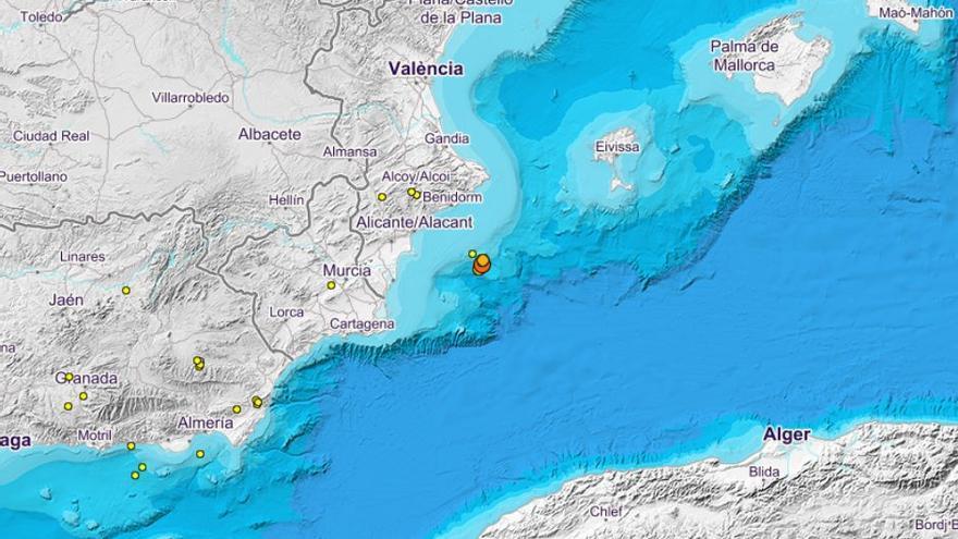 La costa alicantina registra un nuevo seísmo de 2,4 grados de magnitud
