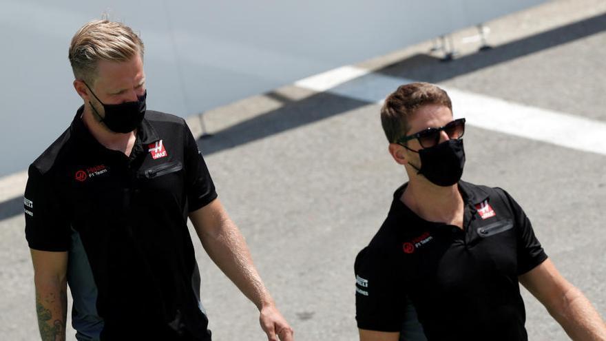 Grosjean y Magnussen dejarán Haas a final de temporada