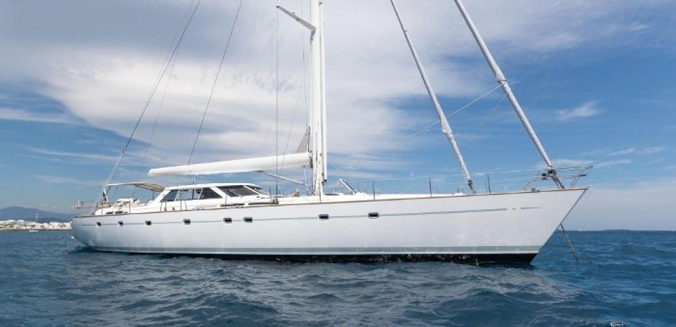 Neptune, yate de superlujo que ha atracado en el Puerto de Málaga este año.