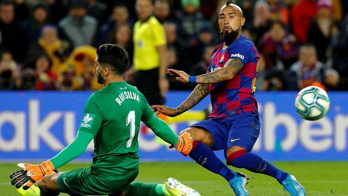 Arturo Vidal, en un partit de la temporada passada.