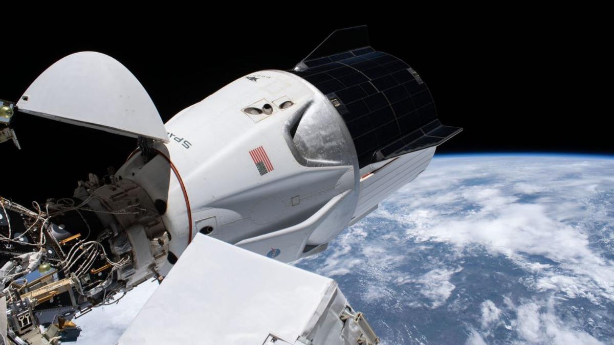 Una imagen de la cápsula de SpaceX.