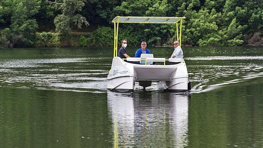 Catamaranes eléctricos para la Ribeira Sacra