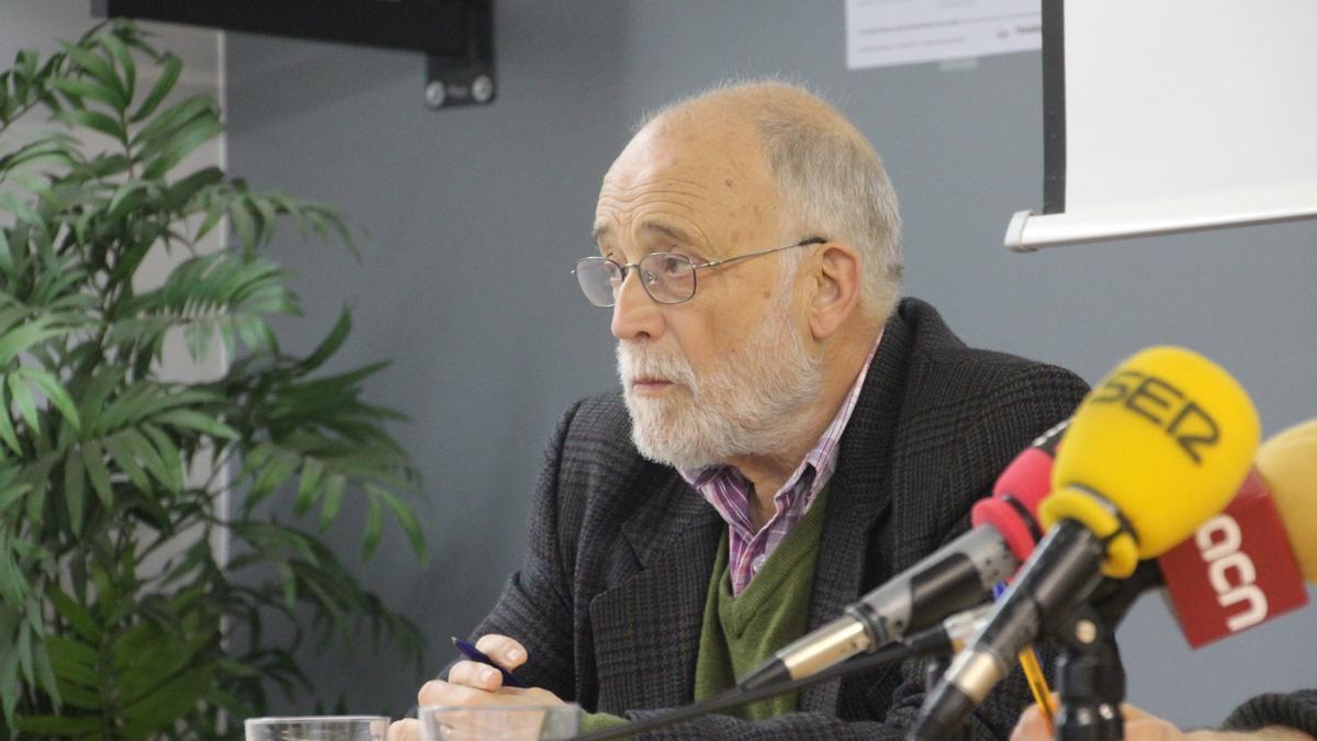 El economista y activista social Arcadi Oliveres.
