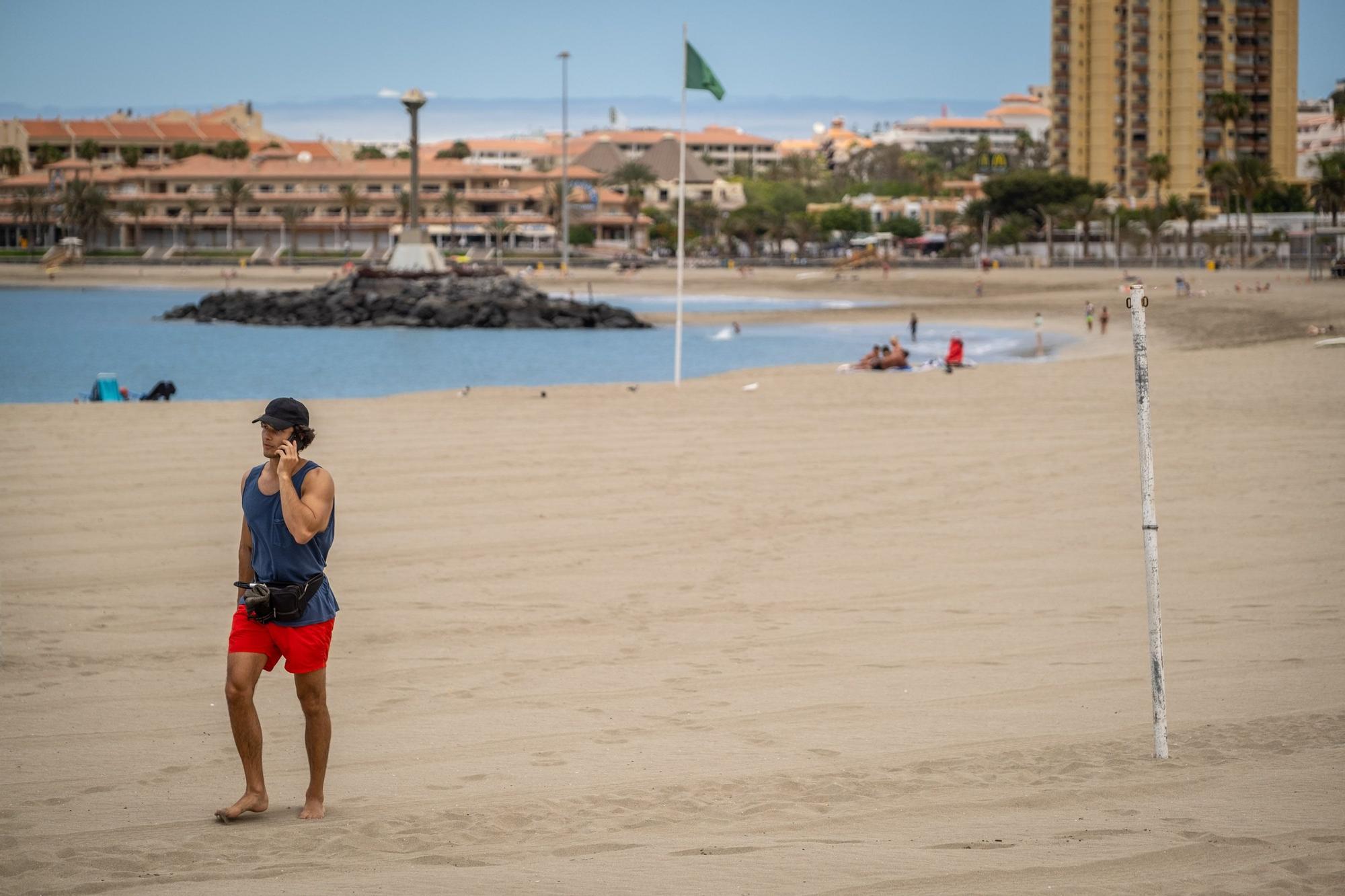 Izado de bandera azul Playa de Las Vistas