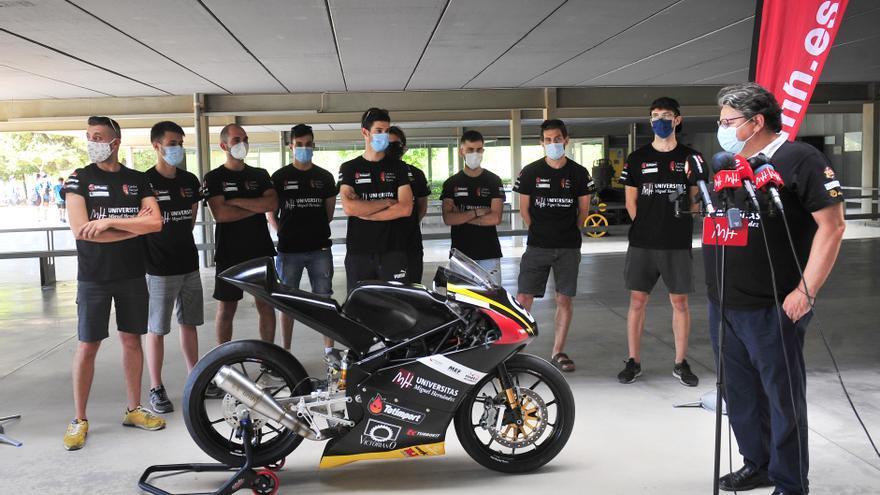 La UMH de Elche presenta un prototipo de moto con el que competirá en un certamen internacional