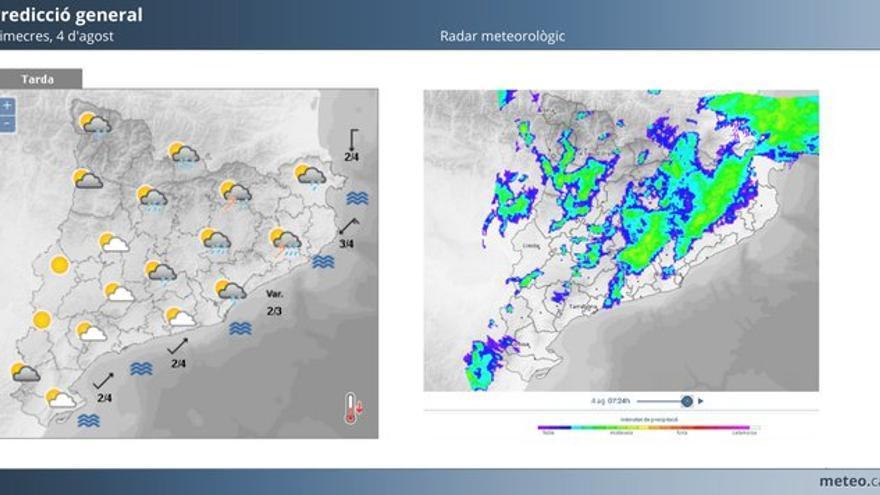 Alerta per tempestes fortes aquest dimecres a comarques gironines