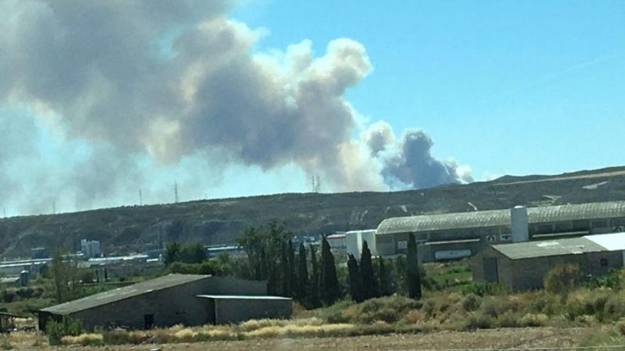 El incendio iniciado en San Gregorio afecta a una superficie de 126 hectáreas
