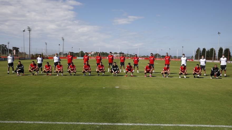 El Sporting empieza a sudar la camiseta en Mareo