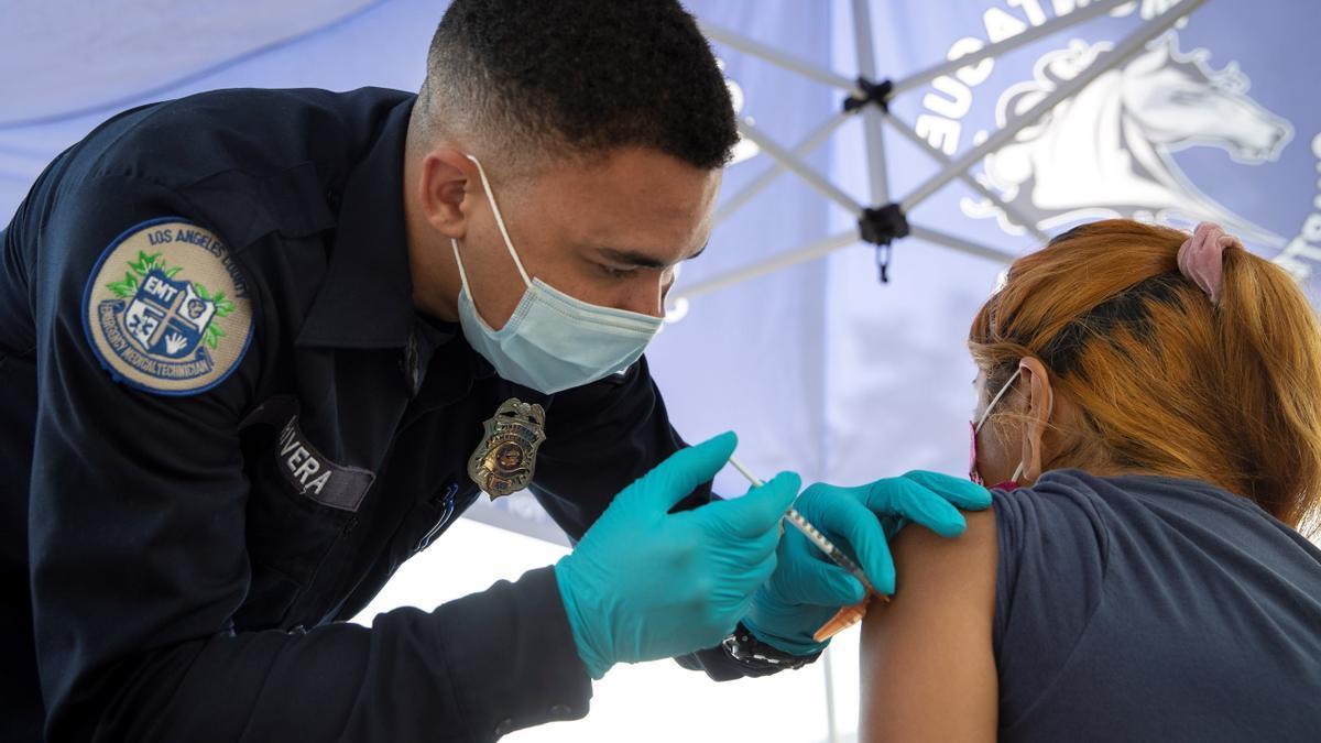 Un punto de vacunación en Estados Unidos.