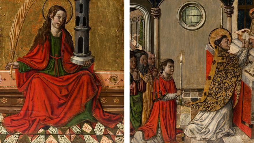 Atribuyen al Maestro de Xàtiva dos retablos góticos a subasta