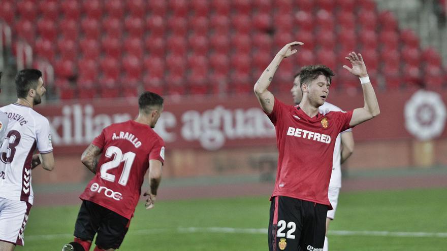 Ningún delantero del Mallorca ha marcado en siete jornadas