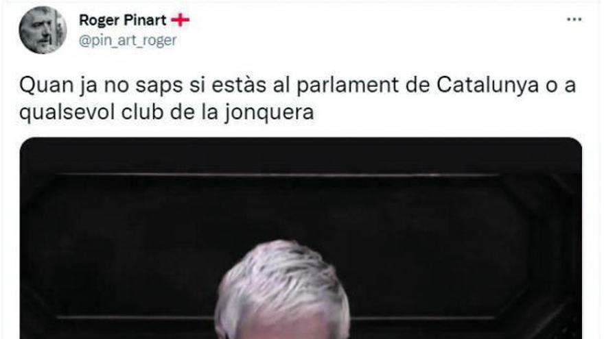 Comentari masclista a una diputada: «Quan ja no saps si estàs al Parlament o en un club de la Jonquera»
