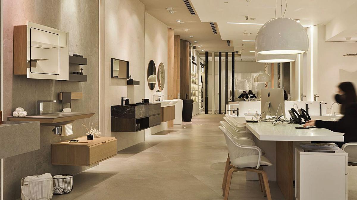 Porcelanosa cambia el concepto de su «showroom» con espacios funcionales y de diseño. | LEVANTE-EMV