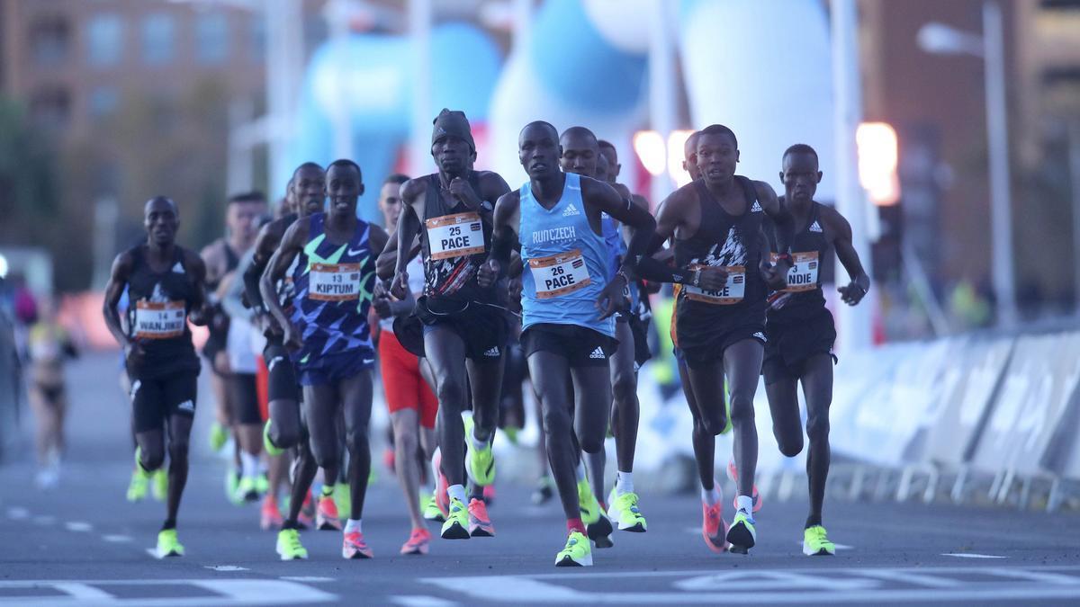 La Media Maratón celebrada en Valencia en plena restricción por la pandemia coonsiguió sin embargo un record del mundo