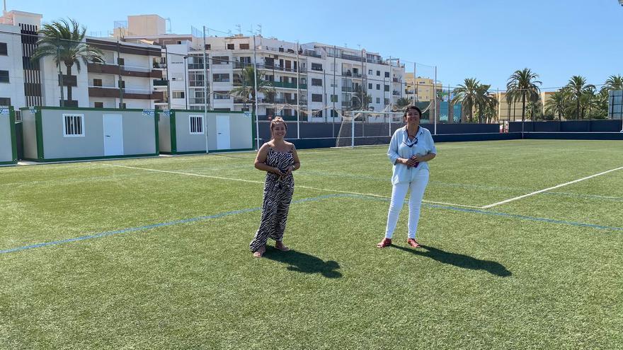 Obras en el campo de Can Cantó para adaptarlo a la Tercera División
