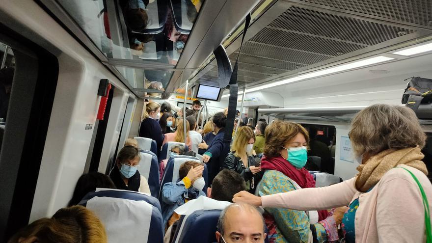 Confusión y aglomeraciones en el primer día de huelga ferroviaria