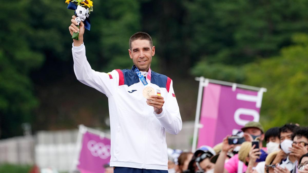 David Valero, con su medalla de bronce.