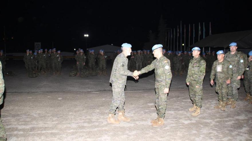 Los soldados asturianos, ya en el Líbano