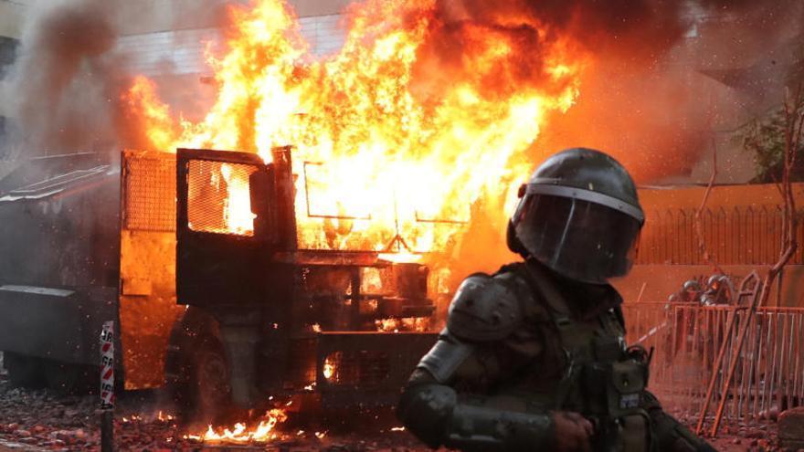 Muere un manifestante en Chile por el impacto de una bomba lacrimógena