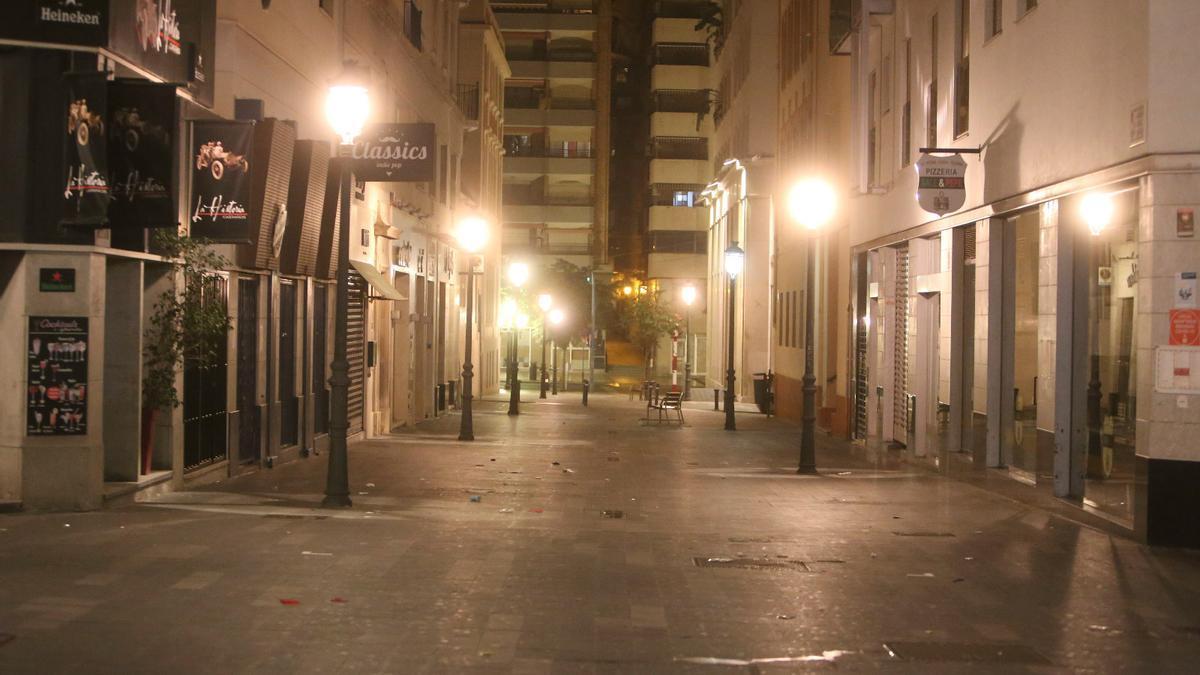 Así ha sido la primera noche del toque de queda en Alicante