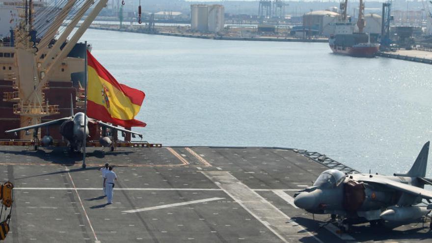 L'Armada diu que amb el portaavions esperen «realçar» els Jocs Mediterranis