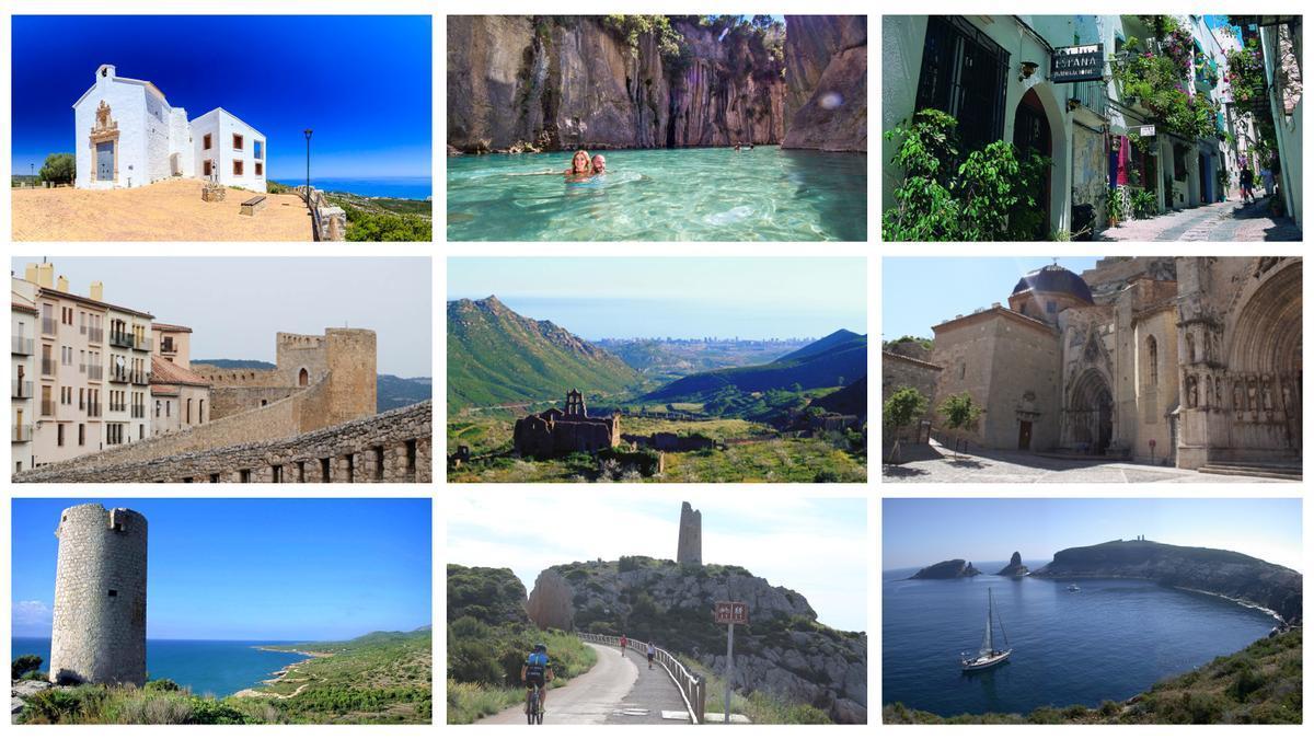 Collage de los destinos más visitados.