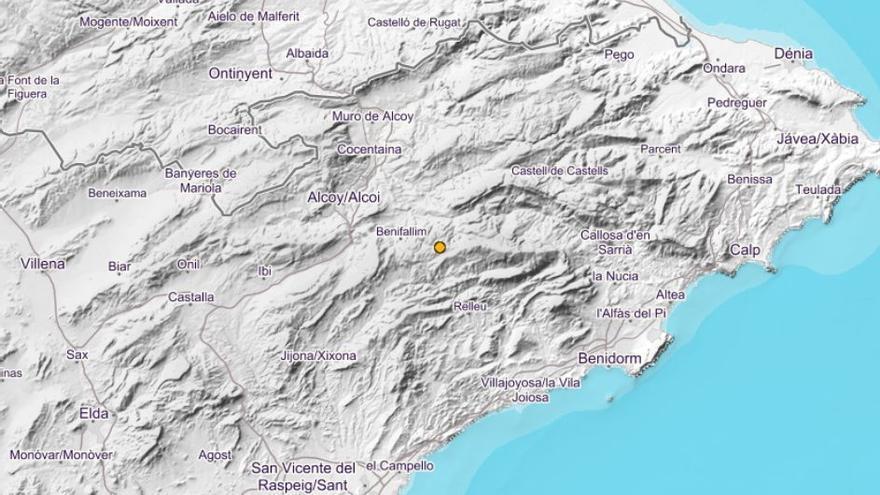 Alcoleja registra un seísmo de 2,9 en la escala Richter