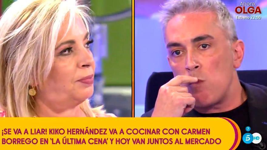 """Carmen Borrego suelta el bombazo: """"Quiero decir que Kiko Hernández ayer me metió mano"""""""
