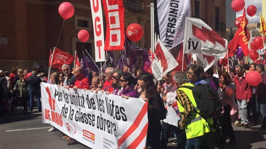 Castellón marcha contra la precariedad y la brecha salarial en el 1 de Mayo