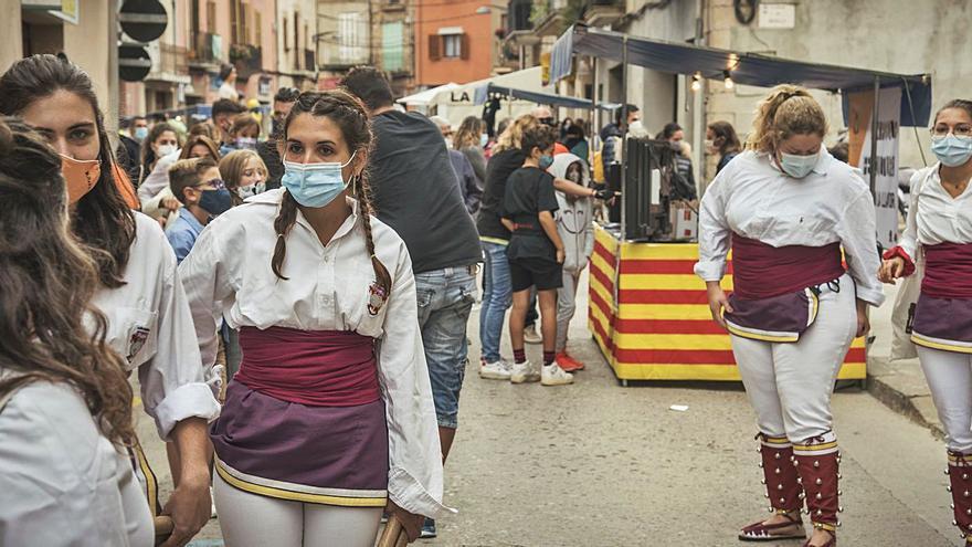 Els productes naturals  i ecològics tornen als carrers de Santpedor en una fira 'recuperada'