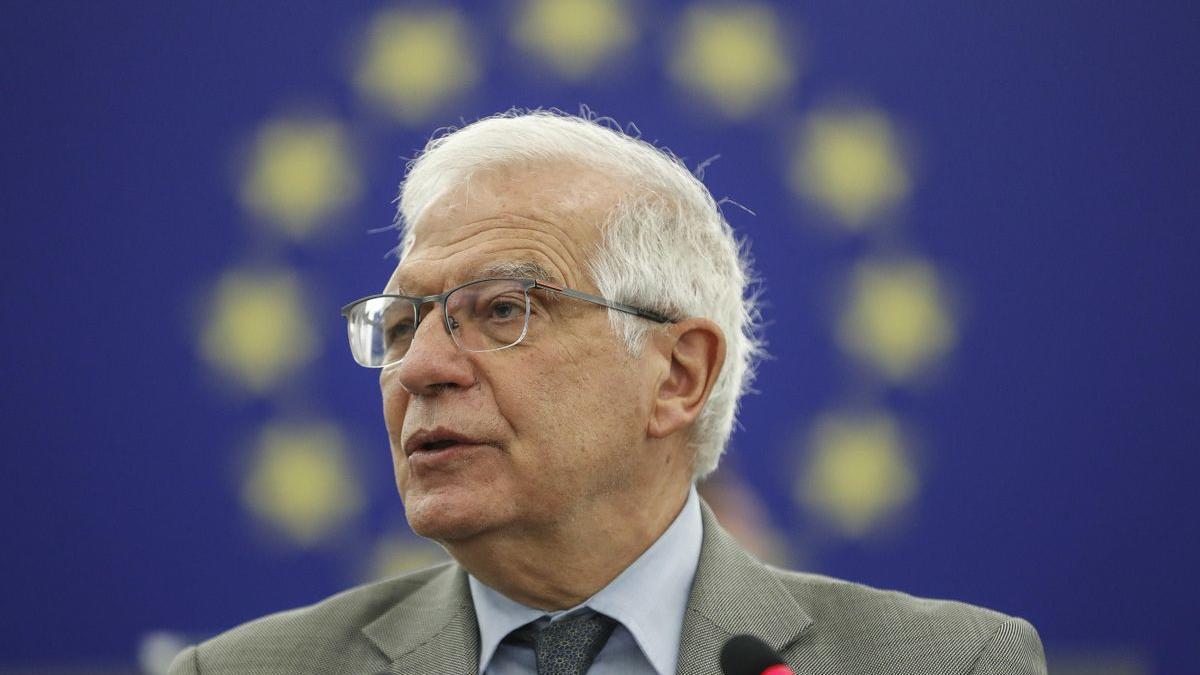 Josep Borrell en una comparecencia de este martes.