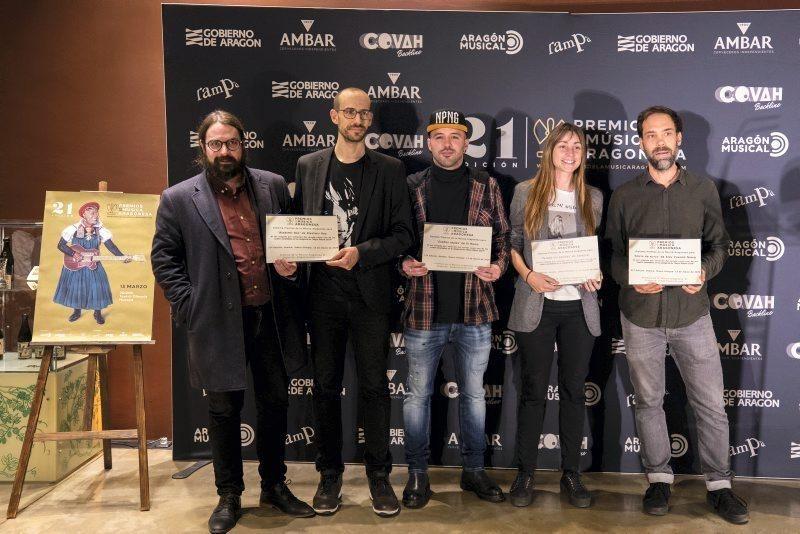 Presentación de los candidatos Premios Música Aragonesa