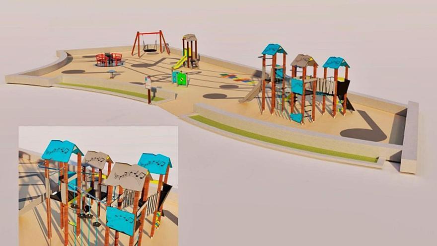 Los granadilleros tendrán pronto una docena de parques infantiles