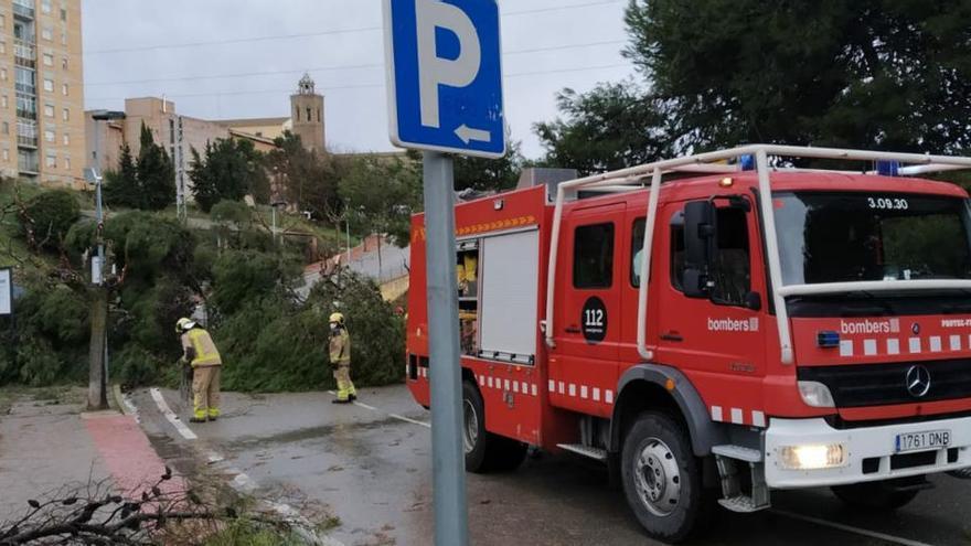 La ventada afluixa a Catalunya però els Bombers encara han rebut una vuitantena d'avisos