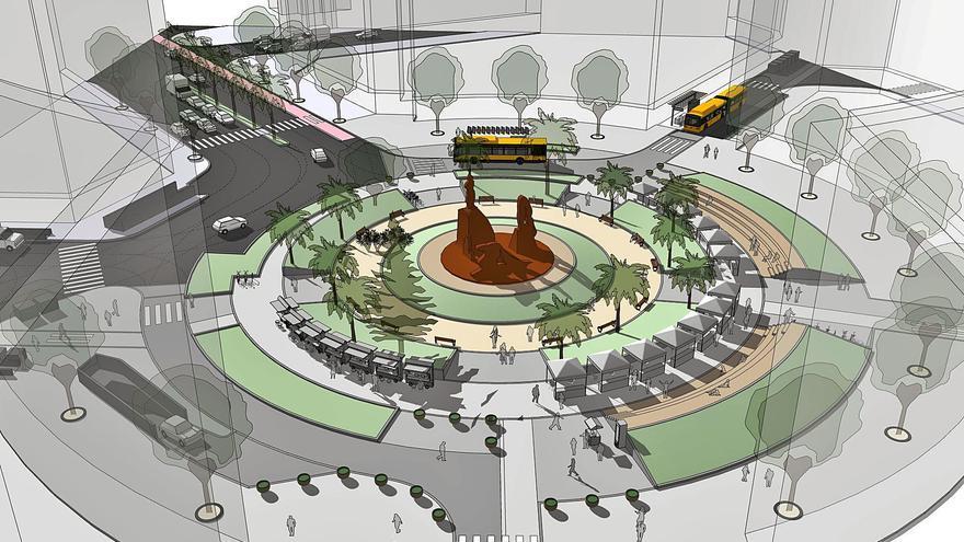 Arranca la obra de renovación de 5.000 metros cuadrados de la plaza de España