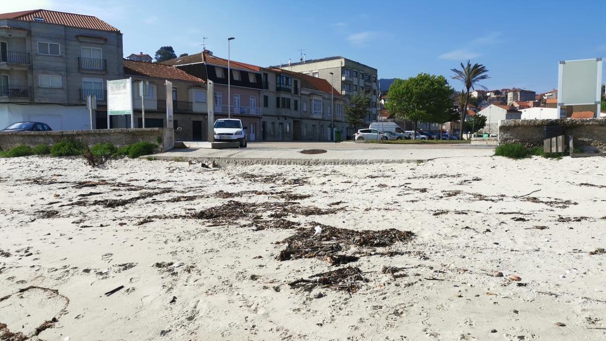 Playa de O Con en Moaña.//Santos Álvarez