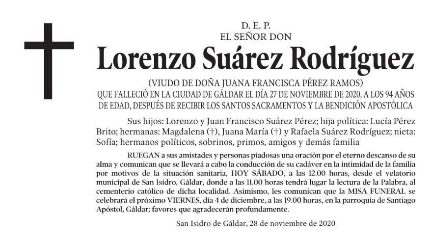 Lorenzo Suárez Rodríguez