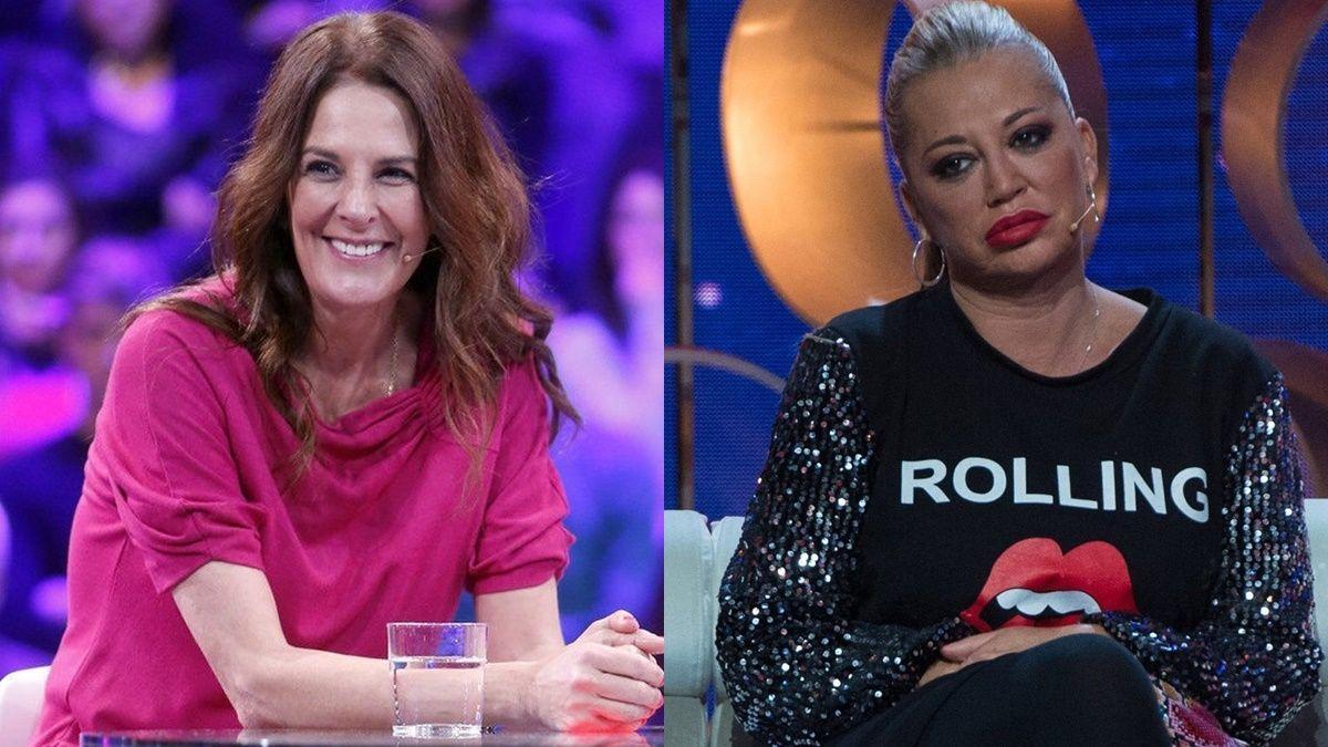 Ángela Portero y Belén Esteban en el plató de 'GH VIP' .