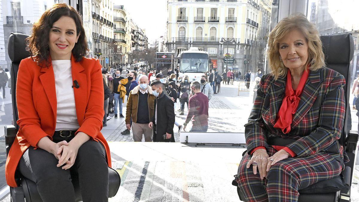 Ayuso y María Teresa Campos.
