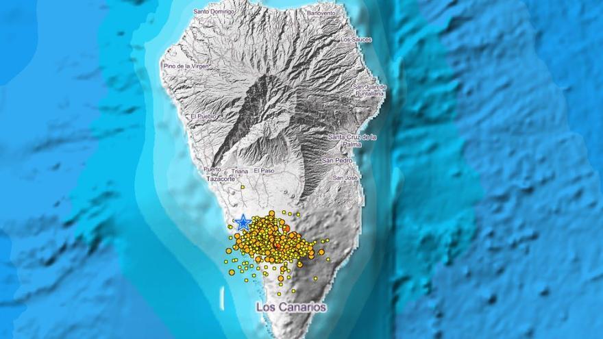 Un sismo de magnitud 3,1 entre los 90 localizados hoy miércoles en La Palma