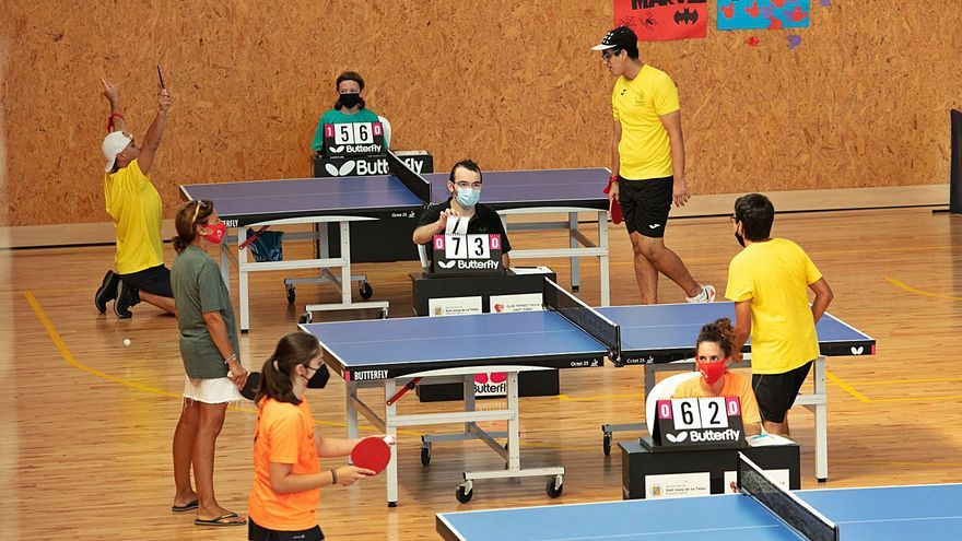 Tenis de mesa en el circuito inclusivo de Ibiza